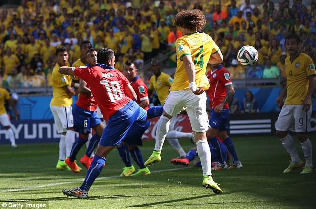 Last tough: FIFA's technical study group award Luiz credit for the goal after reviewing 34 camera angles