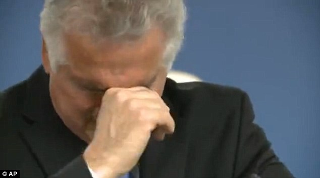 Huppenthal finally lost his composure after about a half hour when he tried to explain how those comments had most affected his longtime assistant