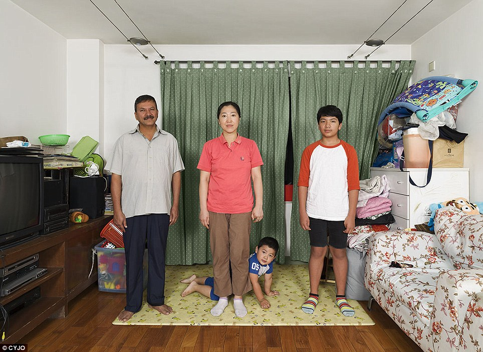 The Chandolas were one of the Beijing families the photographer chose to appear in her project