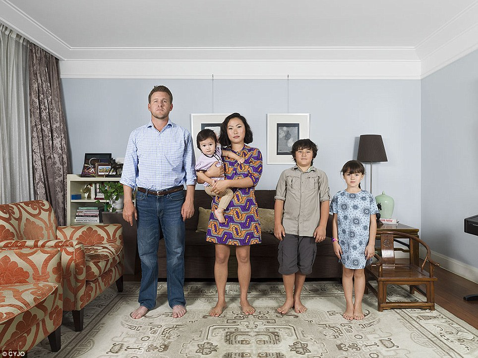 The Snodgrass family in Beijing. Artist CYJO has had a long fascination with how families connect with, and combine, their cultural roots