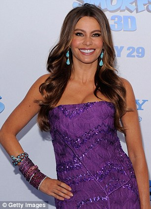 All smiles: Vergara, known for her leading role in US show Modern Family, is one of the country's famous exports