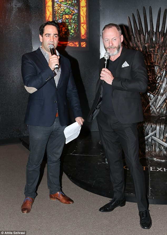All the juicy details: Radio star Michael 'Wippa' Wipfli held a question and answer session in front of the celebrity crowd with Cunningham