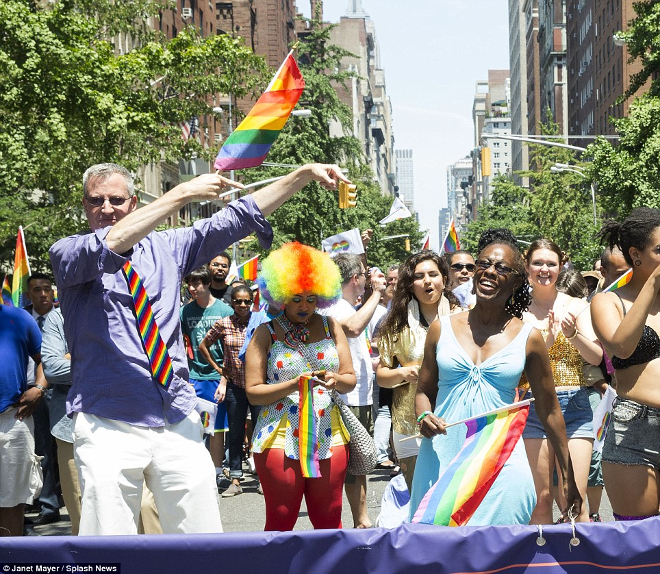 Personal connection: The parade has special significance to de Blasio's wife Chirlane McCray, who came out as a lesbian in 1979 and dated mostly women until she met her future husband working for former-mayor David Dinkins