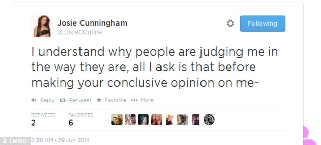 Miss Cunningham announced the plans on Twitter yesterday, insisting the book will answer all of her critics