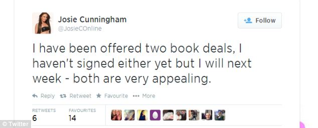 Miss Cunningham's agent says the book's text will be exclusively her words, including spelling mistakes