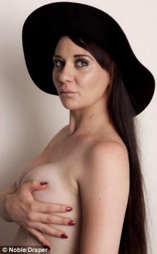 NHS Boob Job model Josie Cunningham doing a Demi Moore pregnant pose