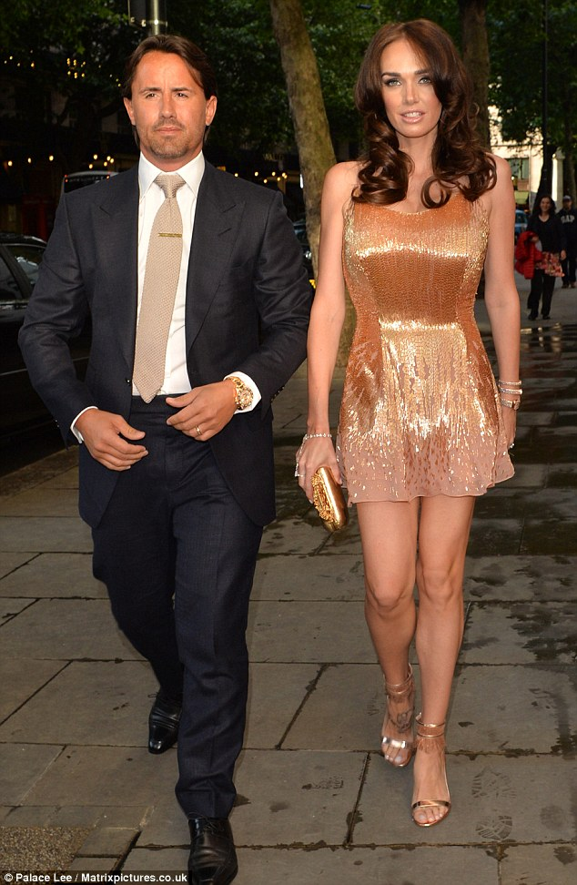 What a soiree! Formula 1 heiress Tamara Eccleston, pictured with her husband Jay Rutland, threw a lavish 30th birthday in London last night