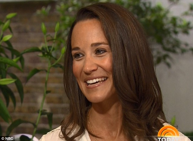 Pippa Middleton revealed that her bridesmaid dress at the Royal Wedding was supposed to be 'insignificant' and blend in with her sister Kate's train, in a clip aired on Monday on Today
