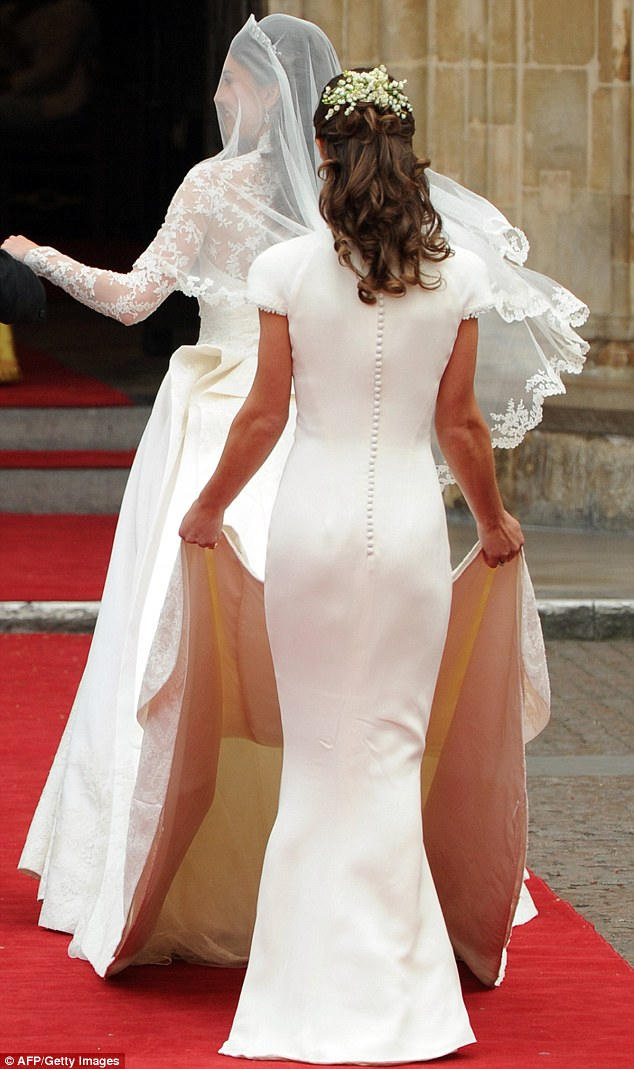 Pippa Middleton described her bridesmaid dress at her sister Kate's wedding to Prince William as 'insignificant' and intended to 'blend in with the wedding dress train'