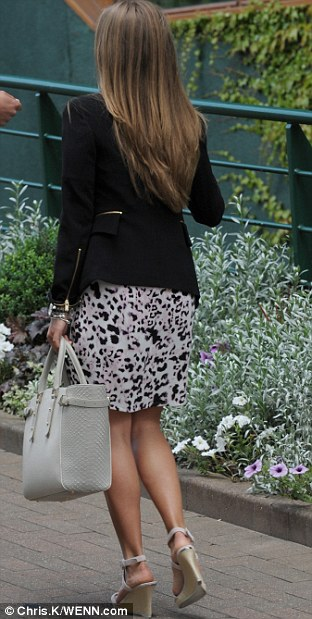 Kim Sears arriving at Wimbledon