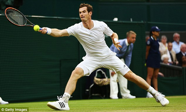On the move: Andy Murray's bid to reach defend his Wimbledon title is still on course after a simple win