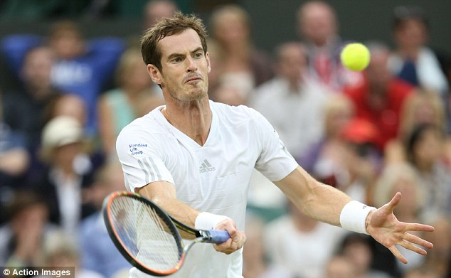 Deft touch: Andy Murray looked in superb form as he battled past Kevin Anderson on Monday