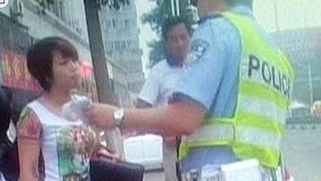 The woman was arrested and taken to a police station for further questioning
