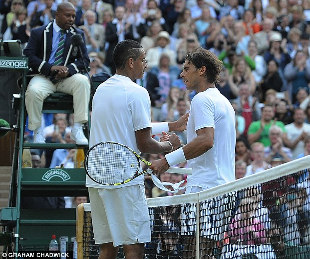 The teenager stunned the world earlier in the competition when he beat number one player Rafael Nadal