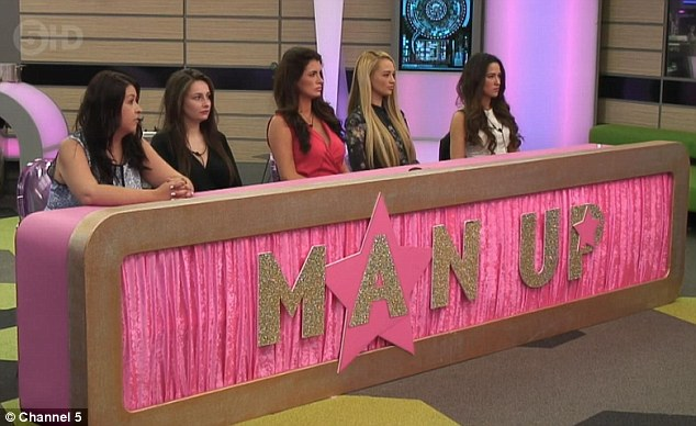 Man up: The boys were given an opportunity to plead for exemption from this week's public vote in front of the girls