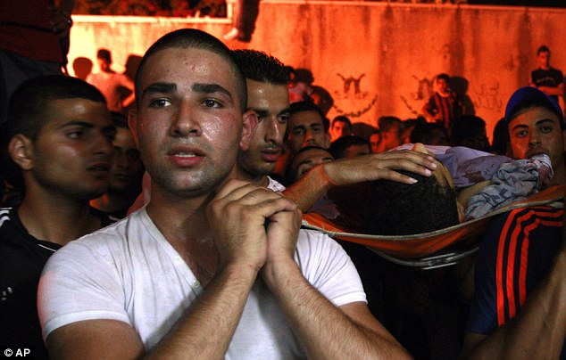 Yosuf abu Zaghah is the first Palestinian casualty since the bodies were found. His funeral took place today