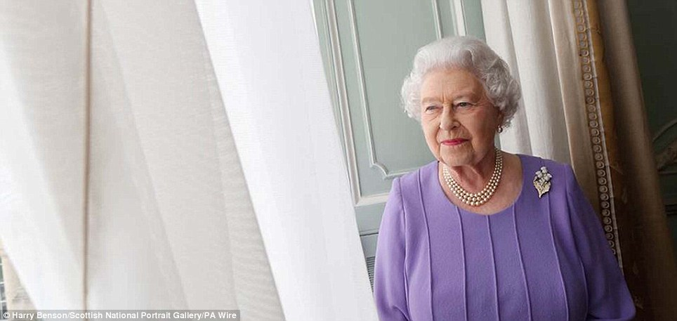 Looking out: Acclaimed photographer Harry Benson has taken a new portrait of the Queen, describing it as 'truly a highlight' of his career