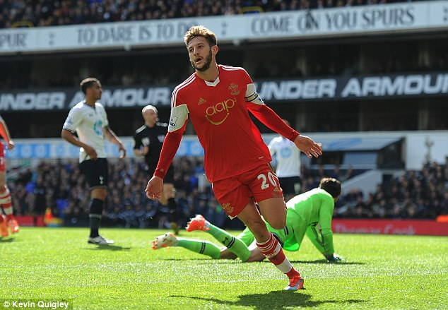 Moving on: Lallana first signed for Southampton aged 12, and made his debut for them in 2006