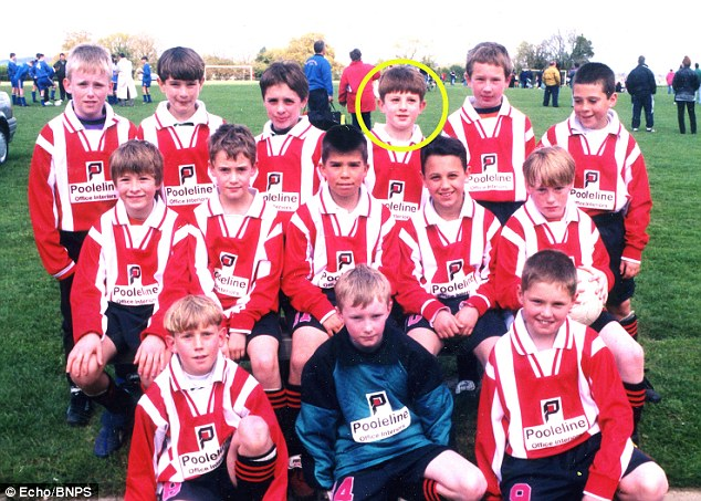 Young potential: Adam Lallana (circled) as part of the Junior Cherries under 10's in 1998