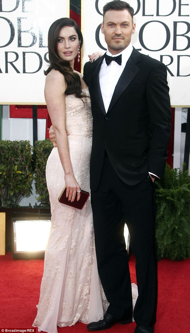 One happy couple: Married since 2010, Megan and Brian already have two children; here they are pictured at the Golden Globes in January 2013