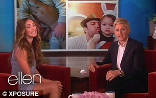 She makes Fox laugh: Megan on Ellen DeGeneres' show on May 6
