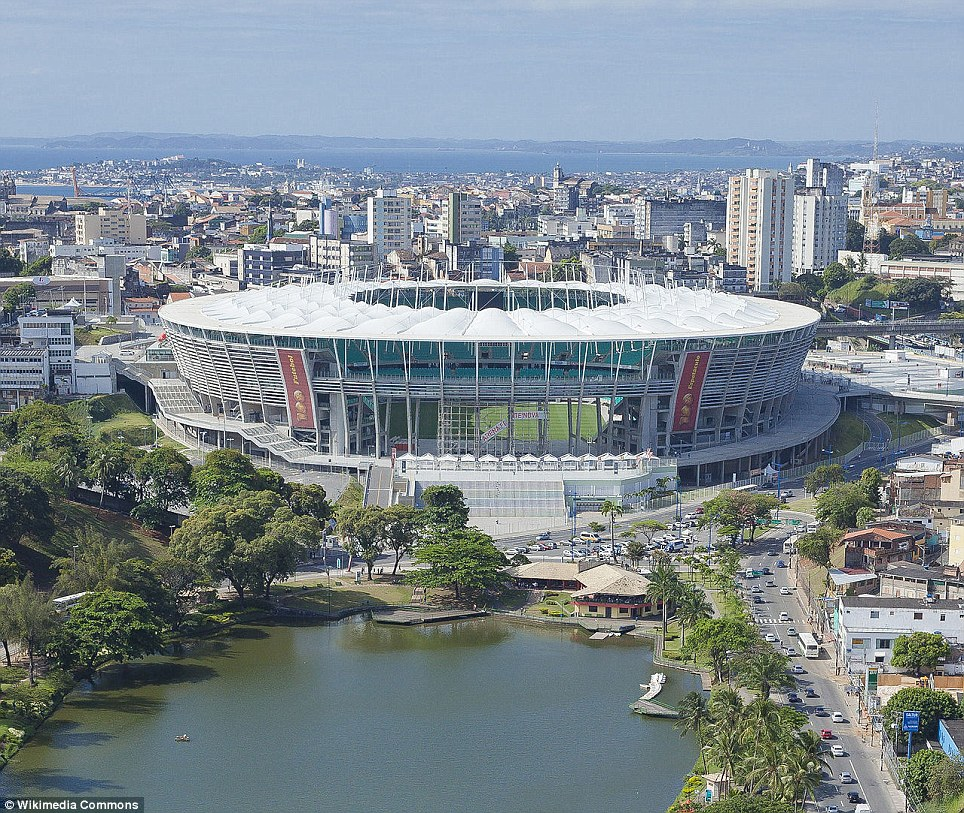 Belgium and the USA face off in Arena Fonte Nova in Salvador, in northeastern Brazil. The stadium, built in 2013, seats 55,000 people