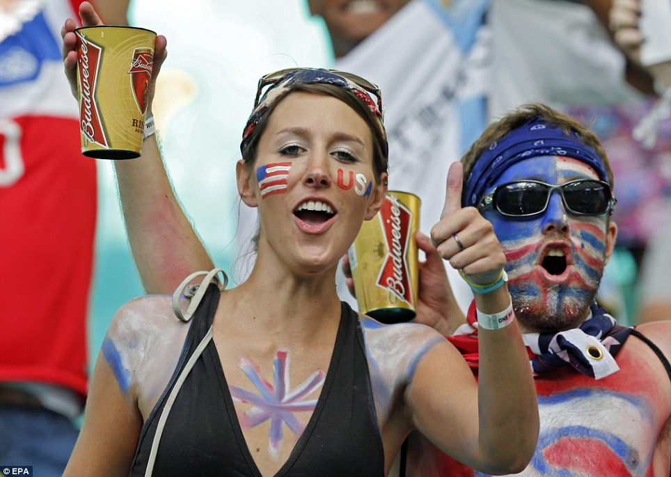 USA fans were in no short supply in Salvador, Brazil. The Associated Press reports that they outnumbered Belgium supporters 3-to-1
