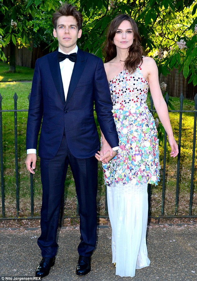 Hand in hand: Keira was joined by musician husband James Righton