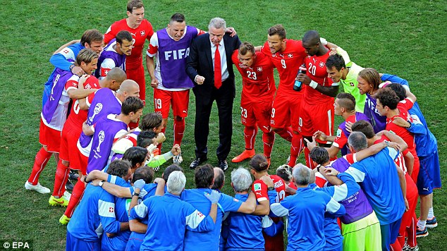 Planning: But Switzerland's veteran coach couldn't quite get his side past a strong Argentina
