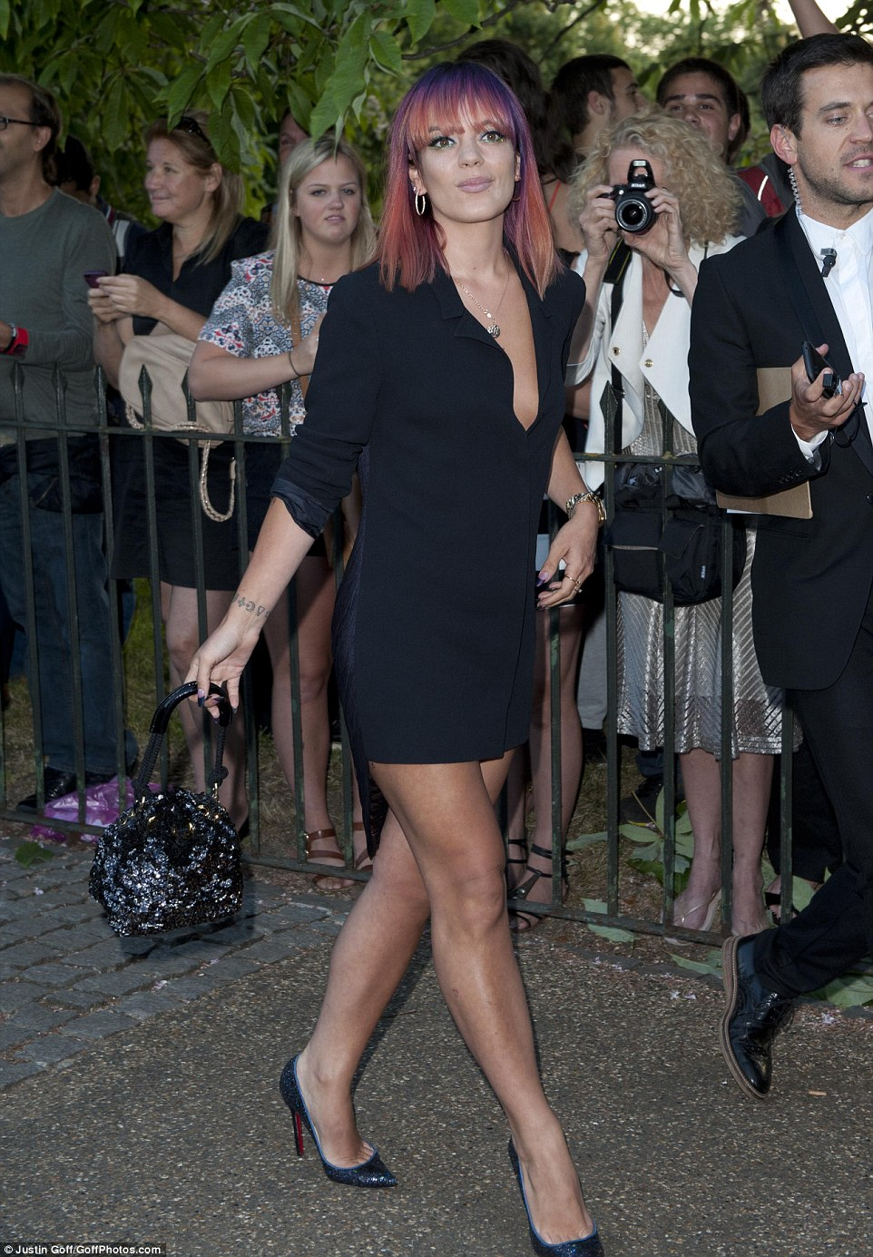 Party time: Lily was enjoying another night out in London on Tuesday evening