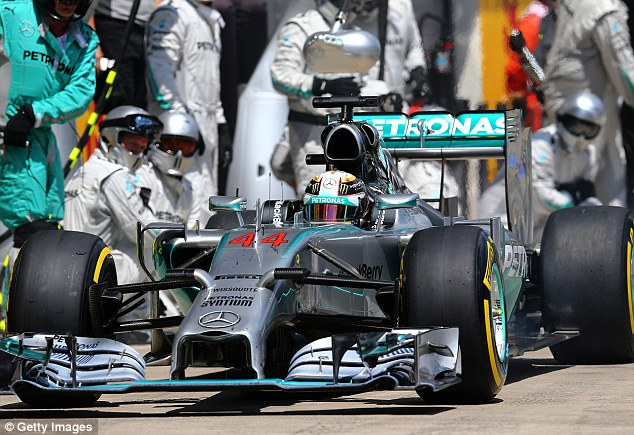 Speed demon: The British F1 driver believes he has the edge in ability over teammate Nico Rosberg