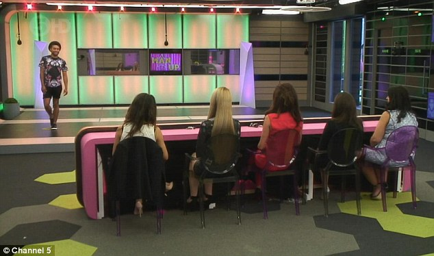 My turn: Mark attemptsb to win the girls over on Tuesday night's Big Brother