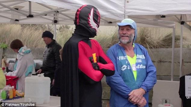 Community engagement is just part of Flatman's duties as the Christchurch superhero