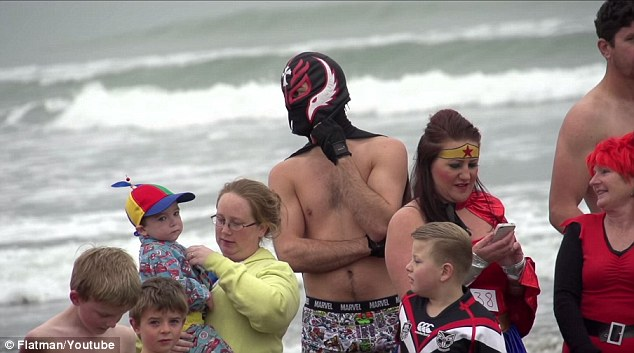 He also attends charity events, but is never without his mask and cape