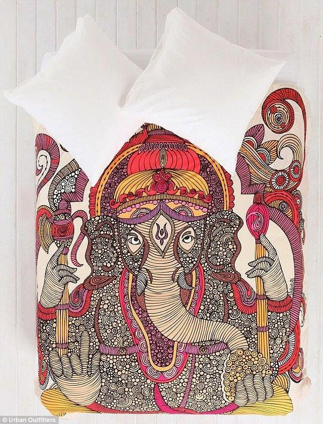 Urban Outfitters's Ganesh duvet cover has offended Hindu activists for using a religious deity for commercial uses