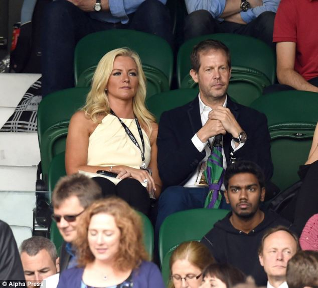 Bra tycoon Michelle Mone is embroiled in a row with university chiefs over building plans next door to her£1million dream home. She is pictured here (in yellow) at Wimbledon last week