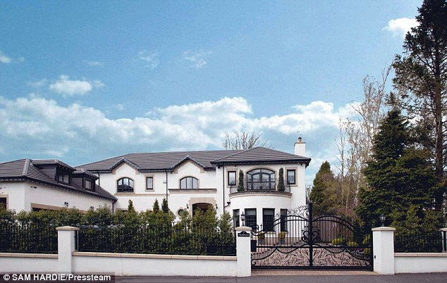 Mone's previous house in south Lanarkshire, she bought with her then husband Michael six years ago