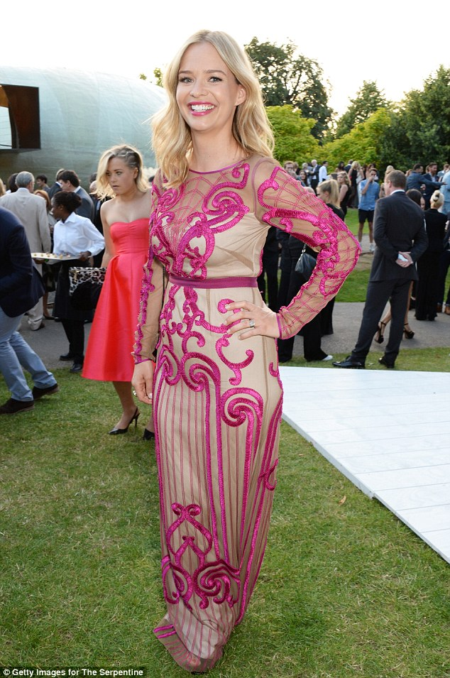 She's a lady of London! Marissa Hermer looked stunning wearing a gorgeous Temperley dress