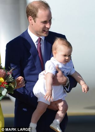 The Duke of Cambridge and Prince George arrive in Sydney, Australia, on the second leg of their royal tour