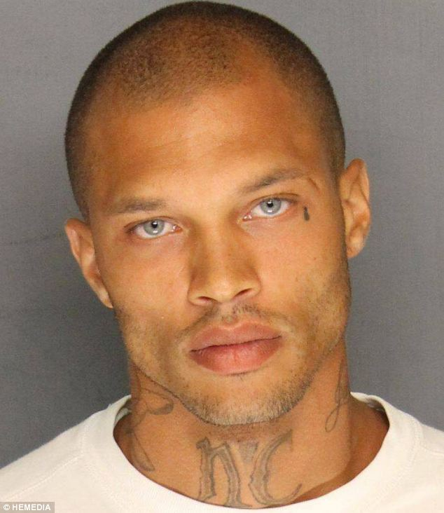 Internet sensation: Jeremy Meeks, pictured in his mugshot, has reportedly signed a $30,000 modelling contract