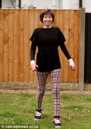 Catrin Pugh has undergone more than 200 operations and had to relearn to walk after the accident last year