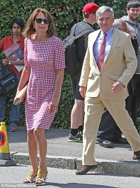 The Duchess of Cambridge's parents, Carole and Michael Middeleton, also attended the tennis today