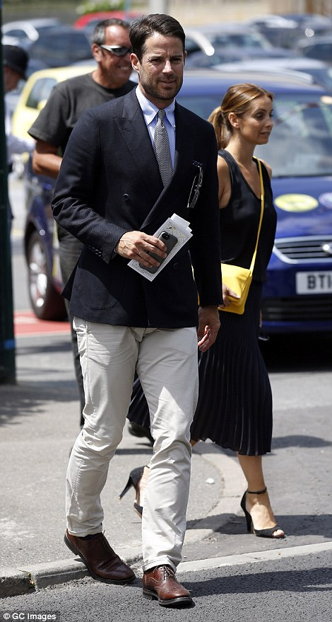Jamie and Louise Redknapp arrived at SW19 for an afternoon watching the tennis