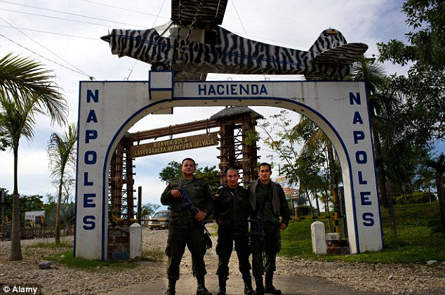 Infamous: Hacienda Napoles, about 200 miles north of Bogota, was Escobar's hideout