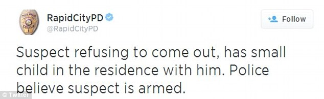 Concerns: Police tweeted updates on the hostage situation on Tuesday