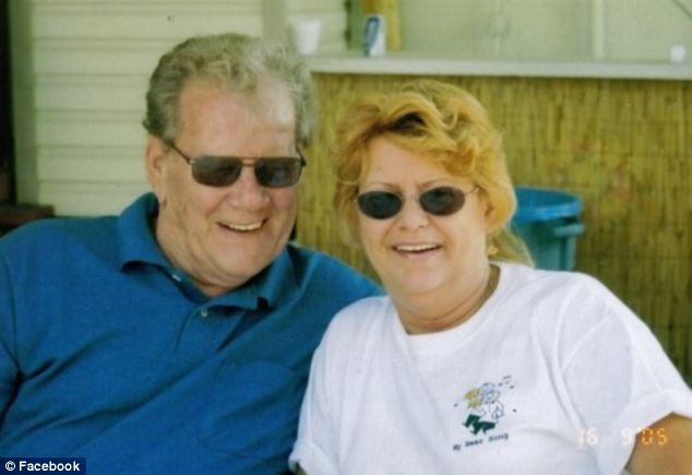 Together: Robert cared for his wife of 45 years in a hospital bed in their living room in her last few weeks