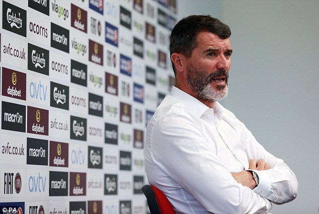 Dual roles: Keane will combine his role at Villa with his job as No 2 to Martin O'Neill for the Republic of Ireland
