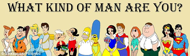 What kind of man are you? Mr Palombo has used Disney princesses and other famous cartoon character in much of his political or social artistic statements in the past