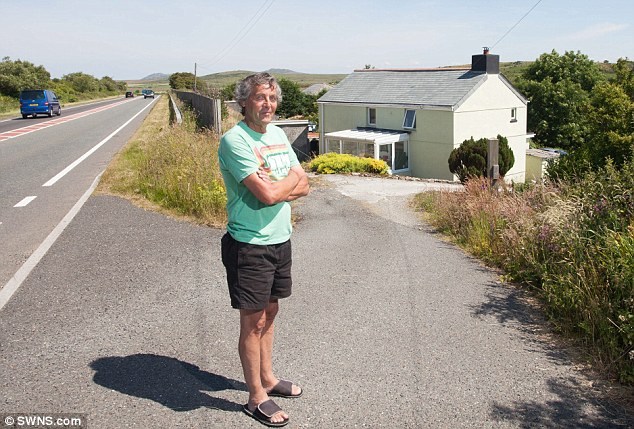 Graham Spittye, 65, from Temple, Cornwall, lives yards from the A30 but still isn't connected to mains electricity