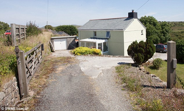 Remote: Mr Spittey bought his farmhouse in the middle of Bodmin Moor in Cornwall 20 years ago